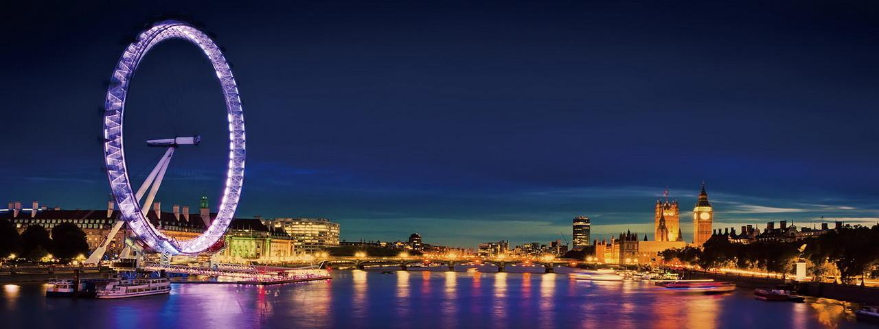 Wall Glass Art London London Eye Buy At Europosters Eu