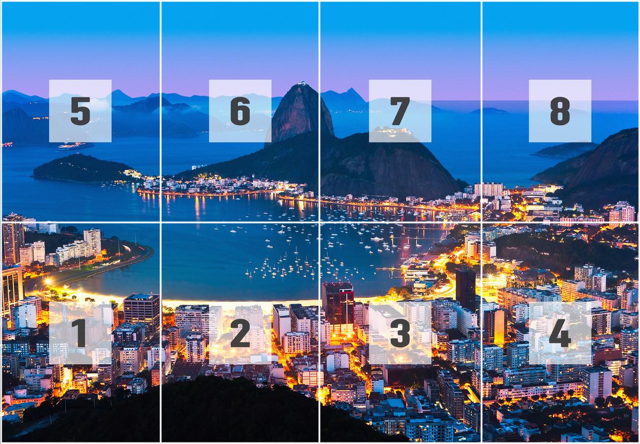 Rio de janeiro poster mural papier peint acheter le sur for Poster mural intisse
