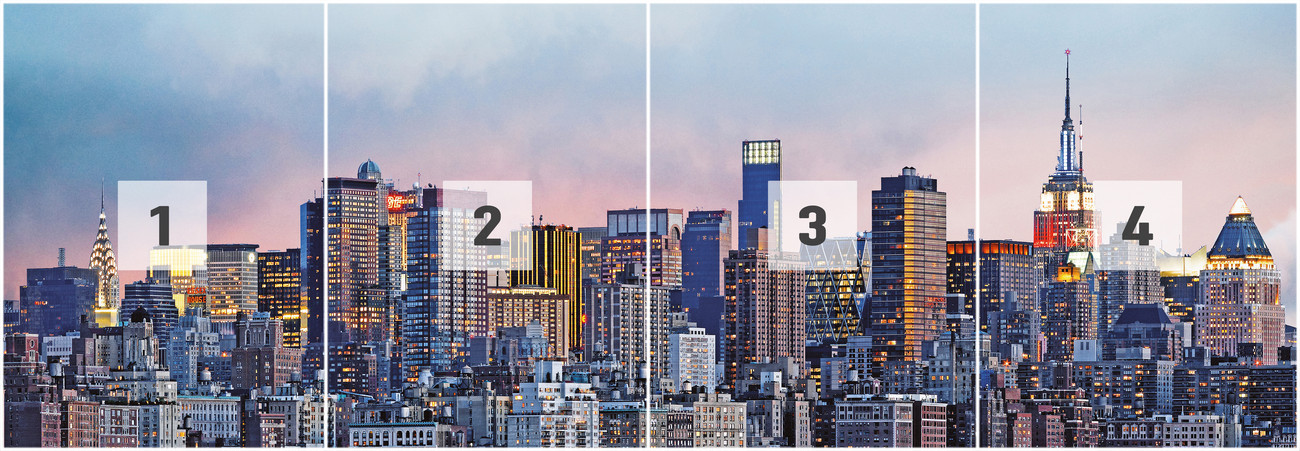 new york skyline wall mural buy at europosters. Black Bedroom Furniture Sets. Home Design Ideas
