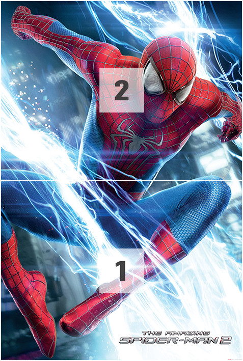 The amazing spiderman 2 leap wall mural buy at europosters - Poster mural spiderman ...