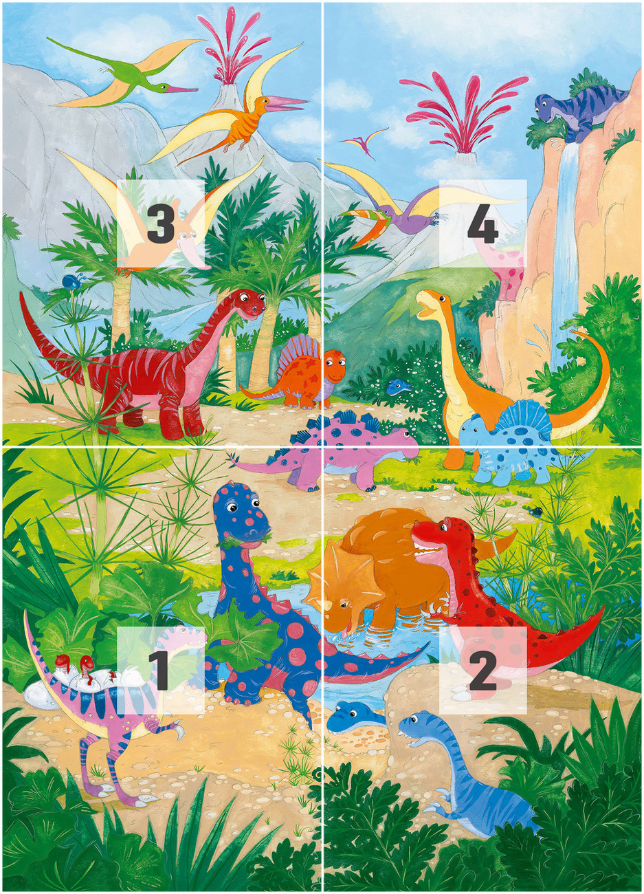 Dino world wall mural buy at europosters for Dinosaur wall mural uk