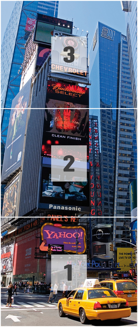 New york times square wall mural buy at europosters for Poster mural geant new york