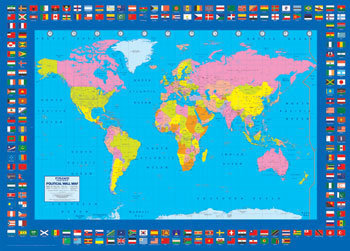 World map political poster sold at europosters world map political poster facebook google pinterest price gumiabroncs Choice Image