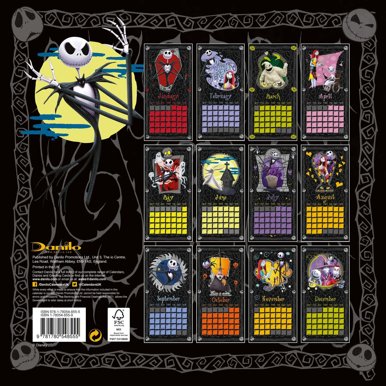 The Nightmare Before Christmas Calendars 2018 On
