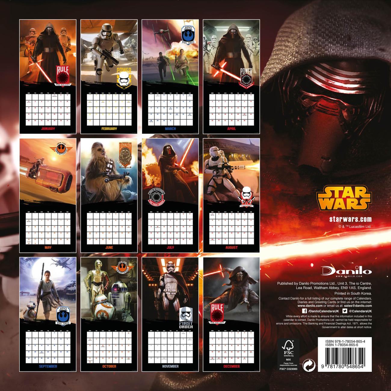 Star Wars, épisode VII : Le Réveil de la Force Calendrier ...