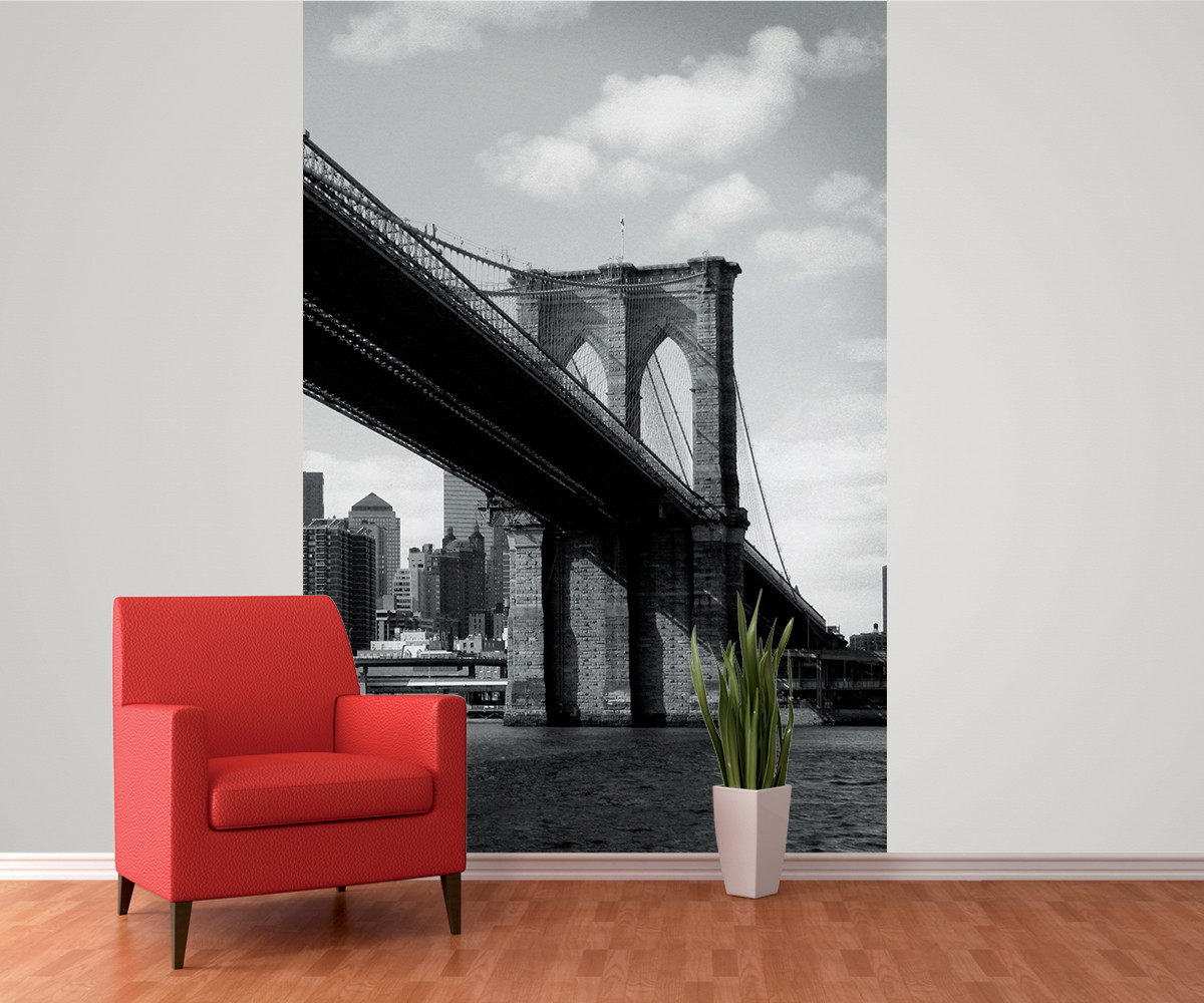 new york brooklyn bridge wall mural buy at europosters. Black Bedroom Furniture Sets. Home Design Ideas