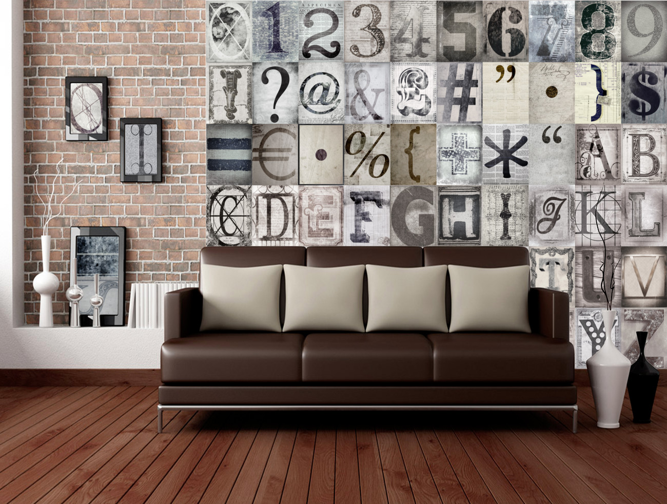 typography wall mural buy at europosters. Black Bedroom Furniture Sets. Home Design Ideas