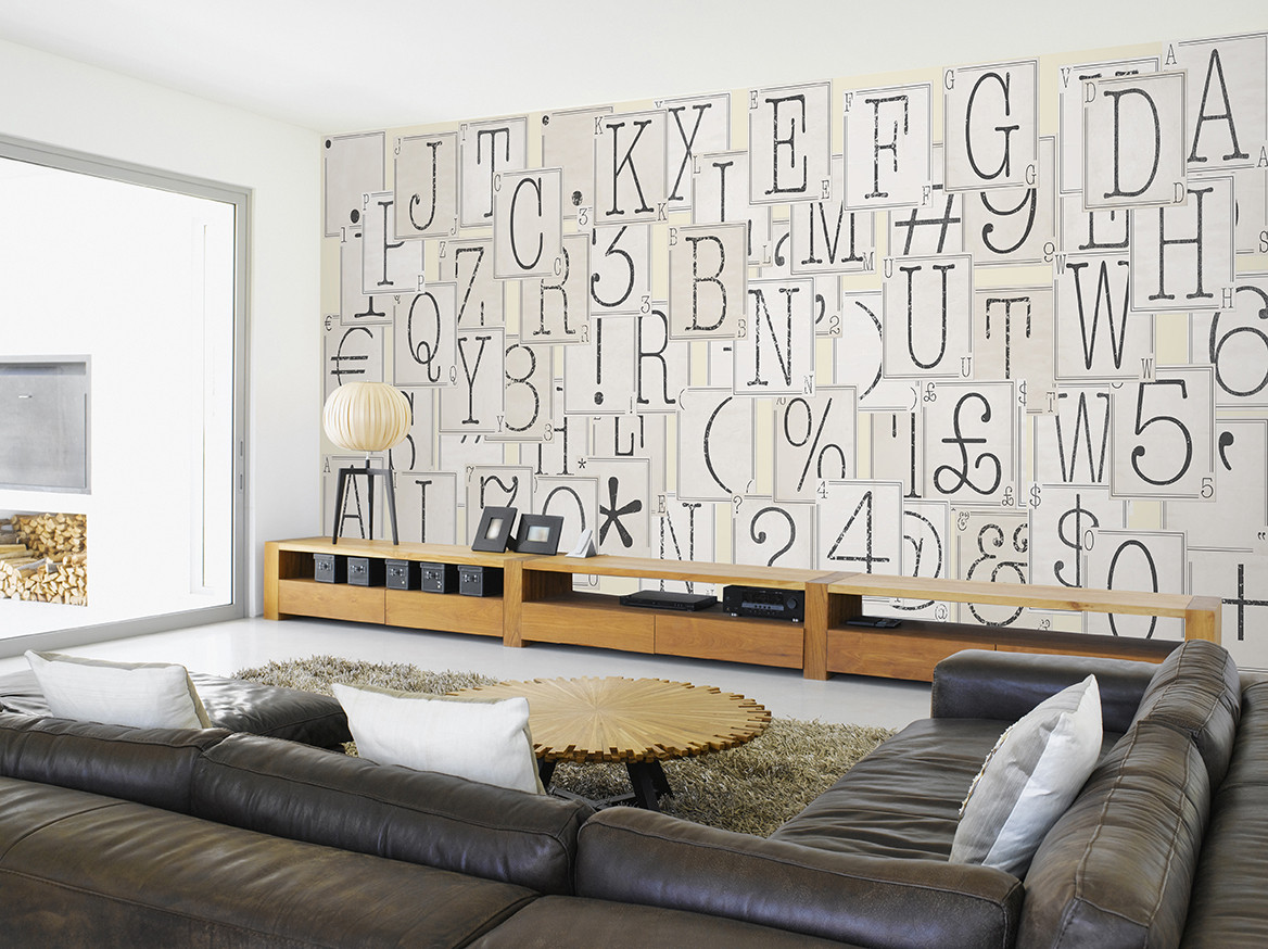 Letters wall mural buy at europosters for Alphabet wall mural