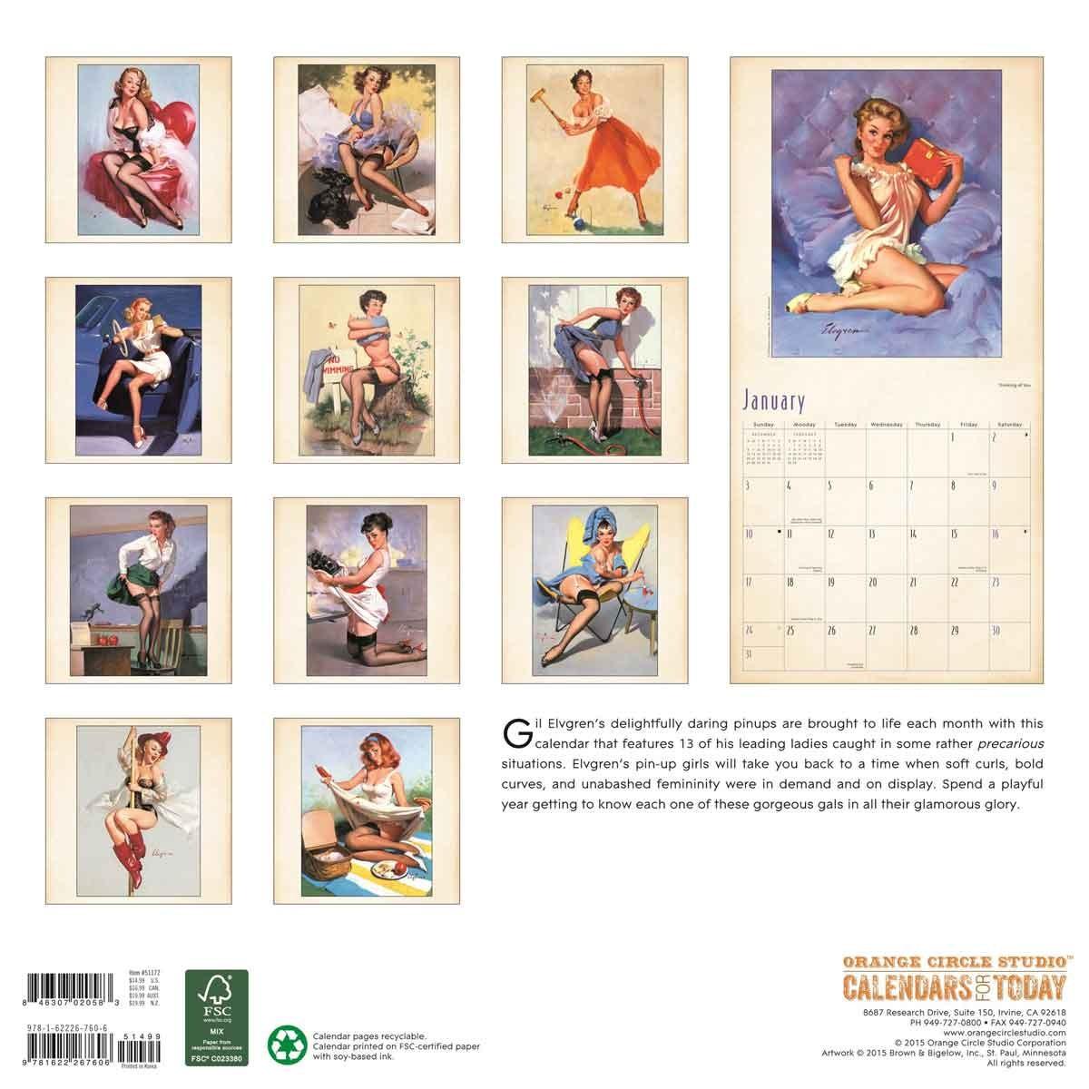 pin up girls calendars 2018 on europosters. Black Bedroom Furniture Sets. Home Design Ideas