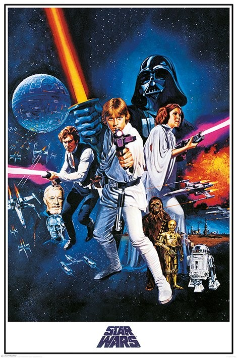 star wars a new hope one sheet poster sold at europosters. Black Bedroom Furniture Sets. Home Design Ideas