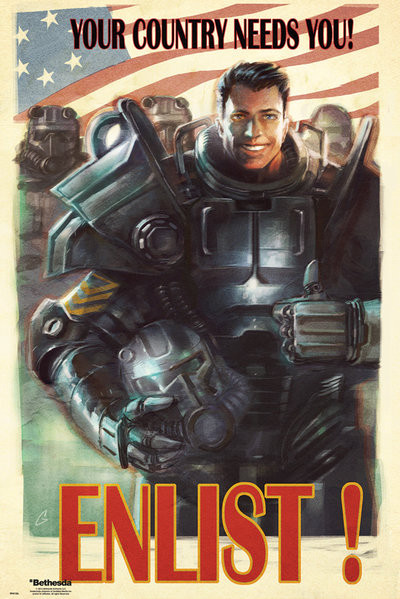Fallout 4 Enlist Poster Sold At Europosters