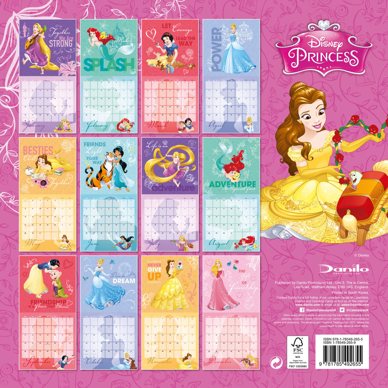 Calendar Disney : Disney princess calendars on abposters