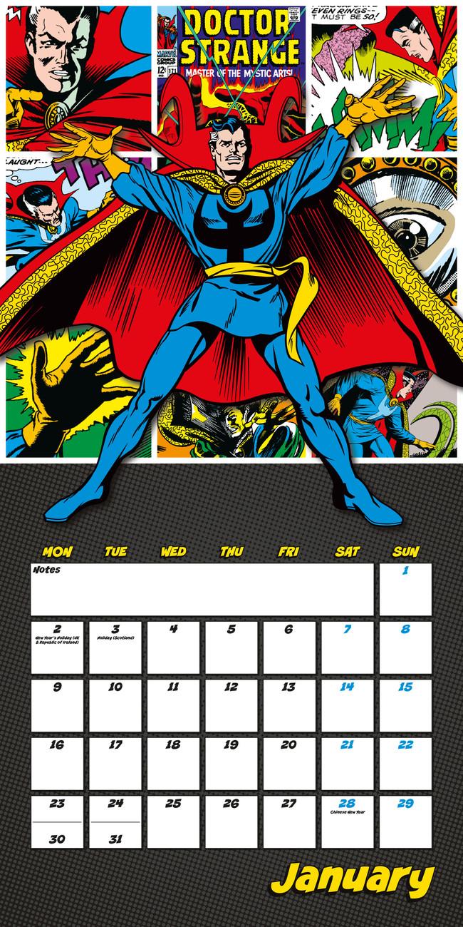 Marvel comics - Calendars 2018 on EuroPosters