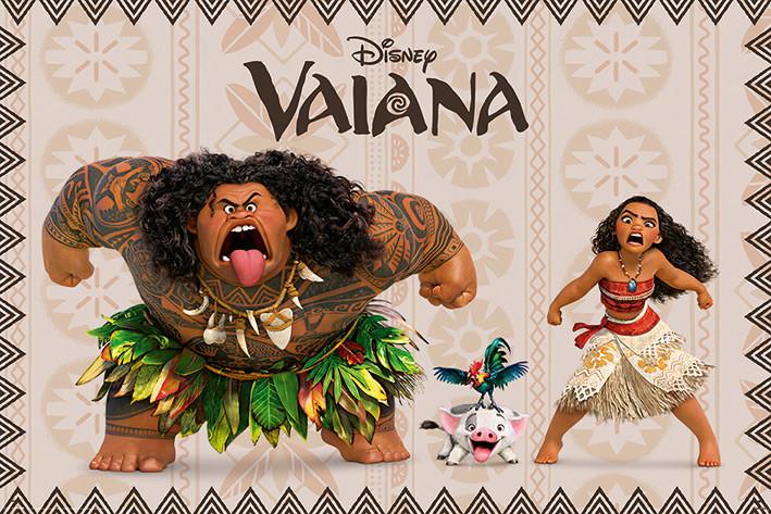 Vaiana La L 233 Gende Du Bout Du Monde Characters Poster