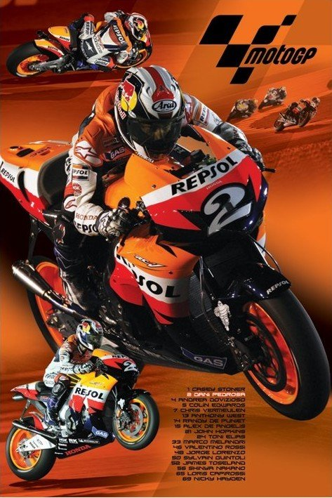 Moto GP - pedrosa Poster | Sold at Europosters