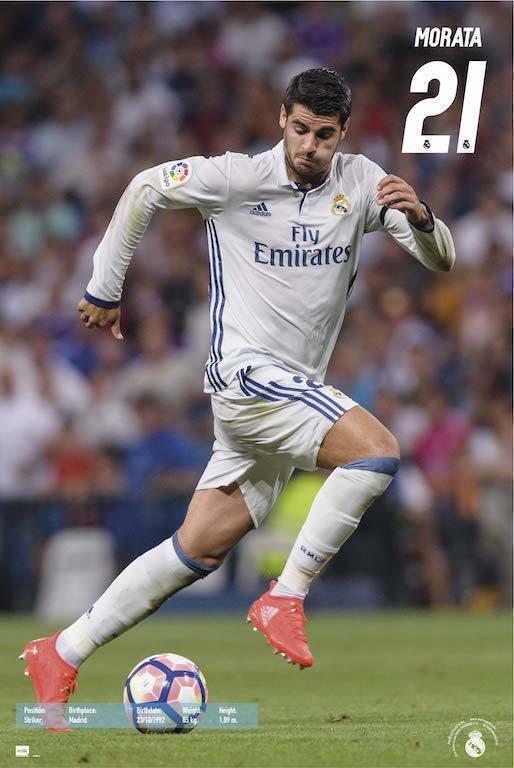 Real madrid 2016 2017 lvaro morata poster sold at - Laminas y posters madrid ...