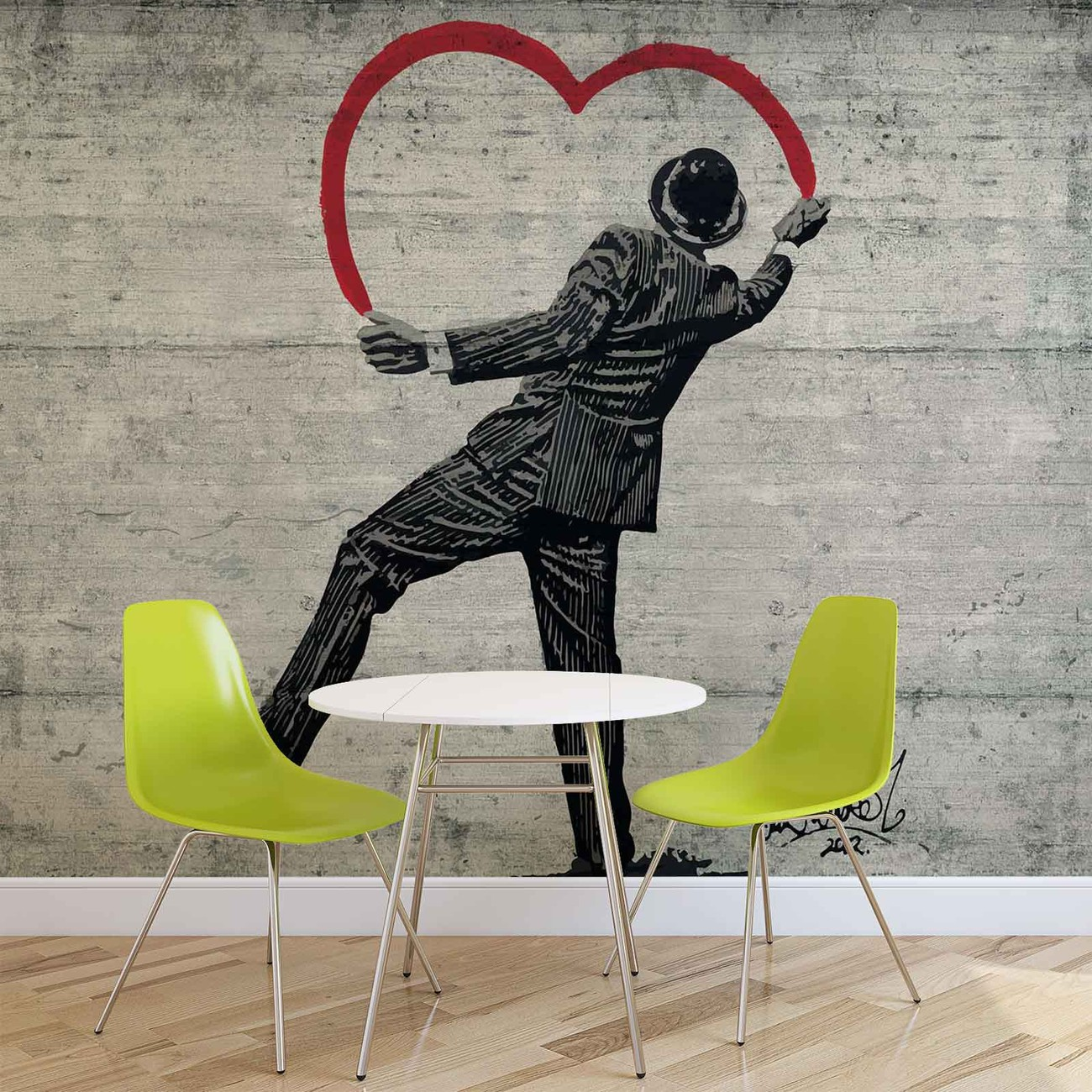 people wallpaper murals buy online at europosters banksy graffiti concrete wall