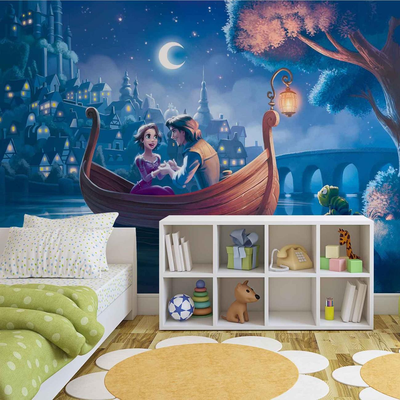 Disney princesses rapunzel wall paper mural buy at for Disney princess mini mural