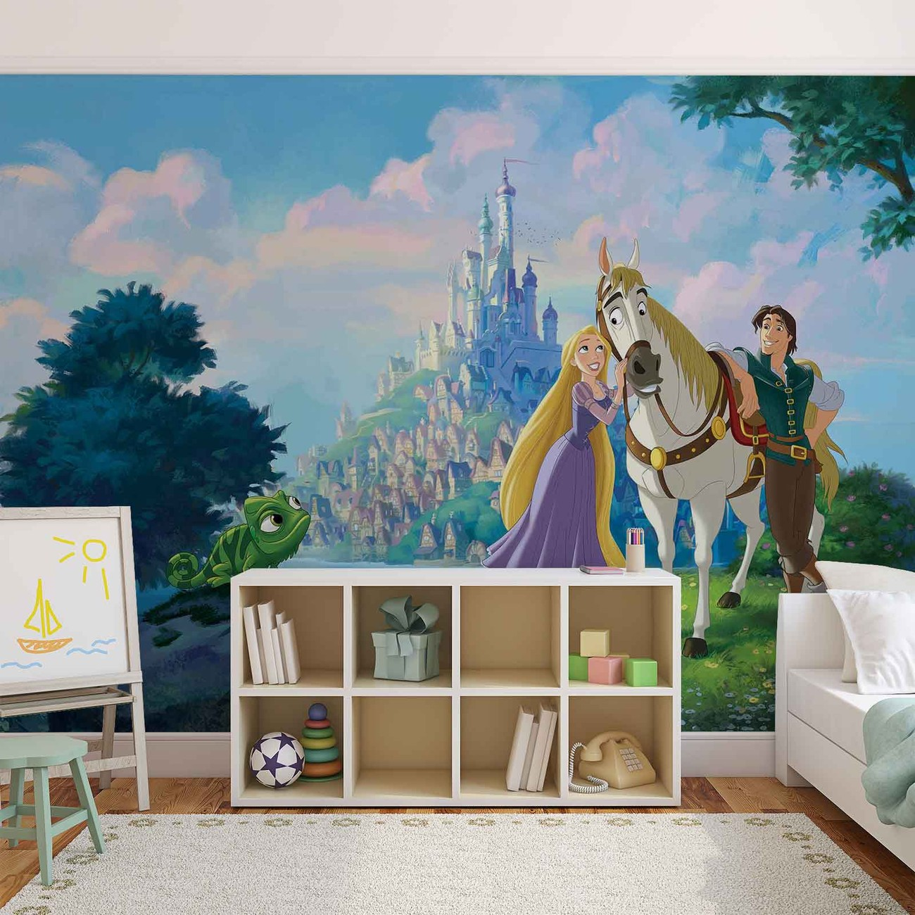 Disney princesses rapunzel wall paper mural buy at for Disney wall mural uk