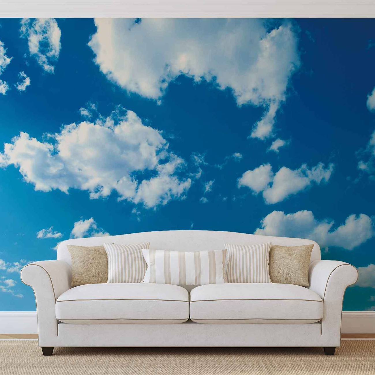 Clouds sky nature wall paper mural buy at europosters for Clouds wall mural