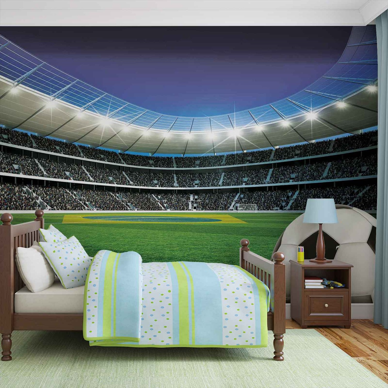 football stadium sport wall paper mural buy at europosters. Black Bedroom Furniture Sets. Home Design Ideas