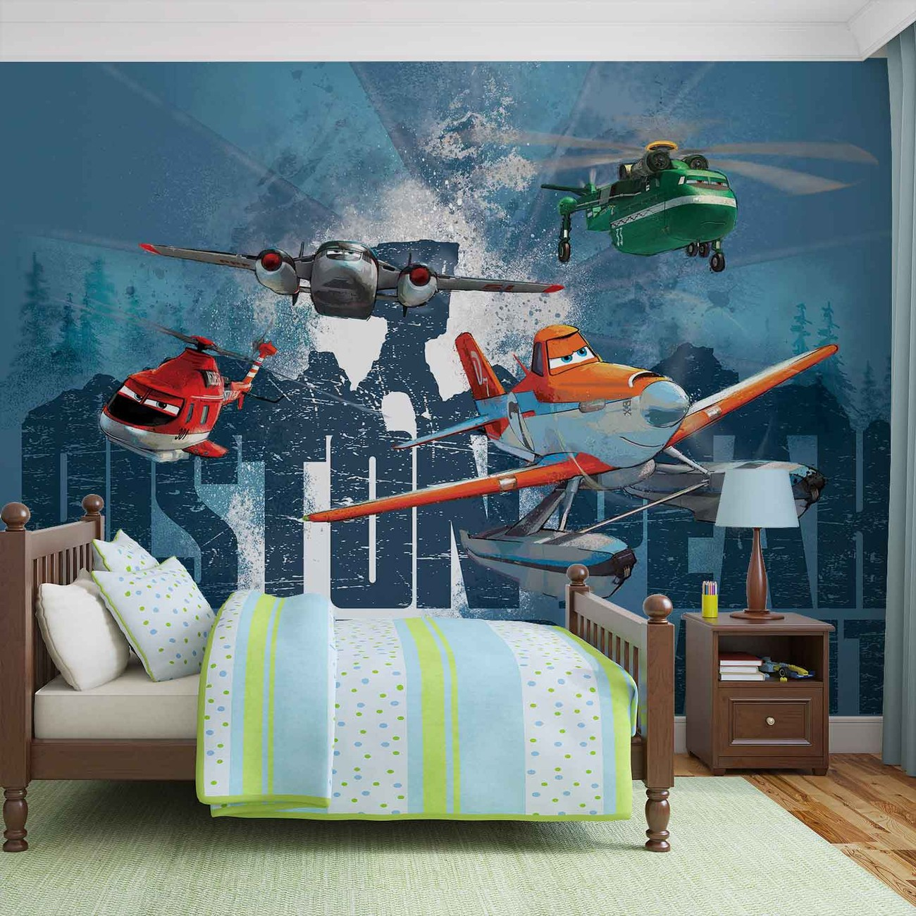 Disney planes dusty blade windlifter wall paper mural for Disney planes wall mural