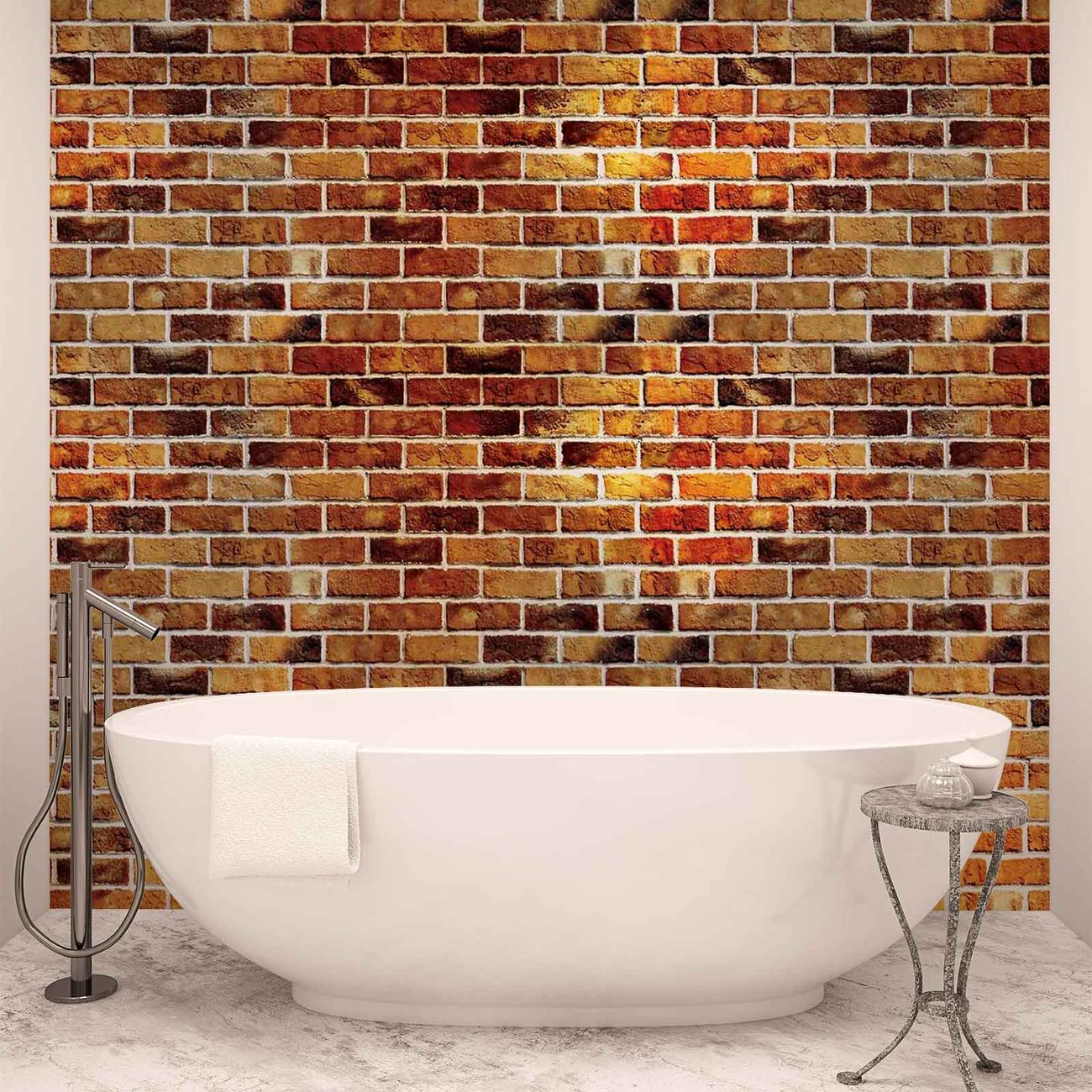 Brick wall wall paper mural buy at europosters for Brick wall decal mural