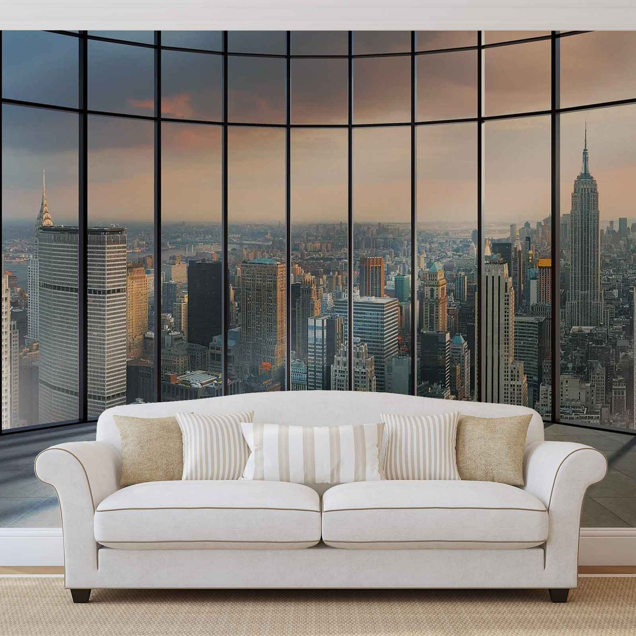 view new york city wall paper mural buy at europosters. Black Bedroom Furniture Sets. Home Design Ideas