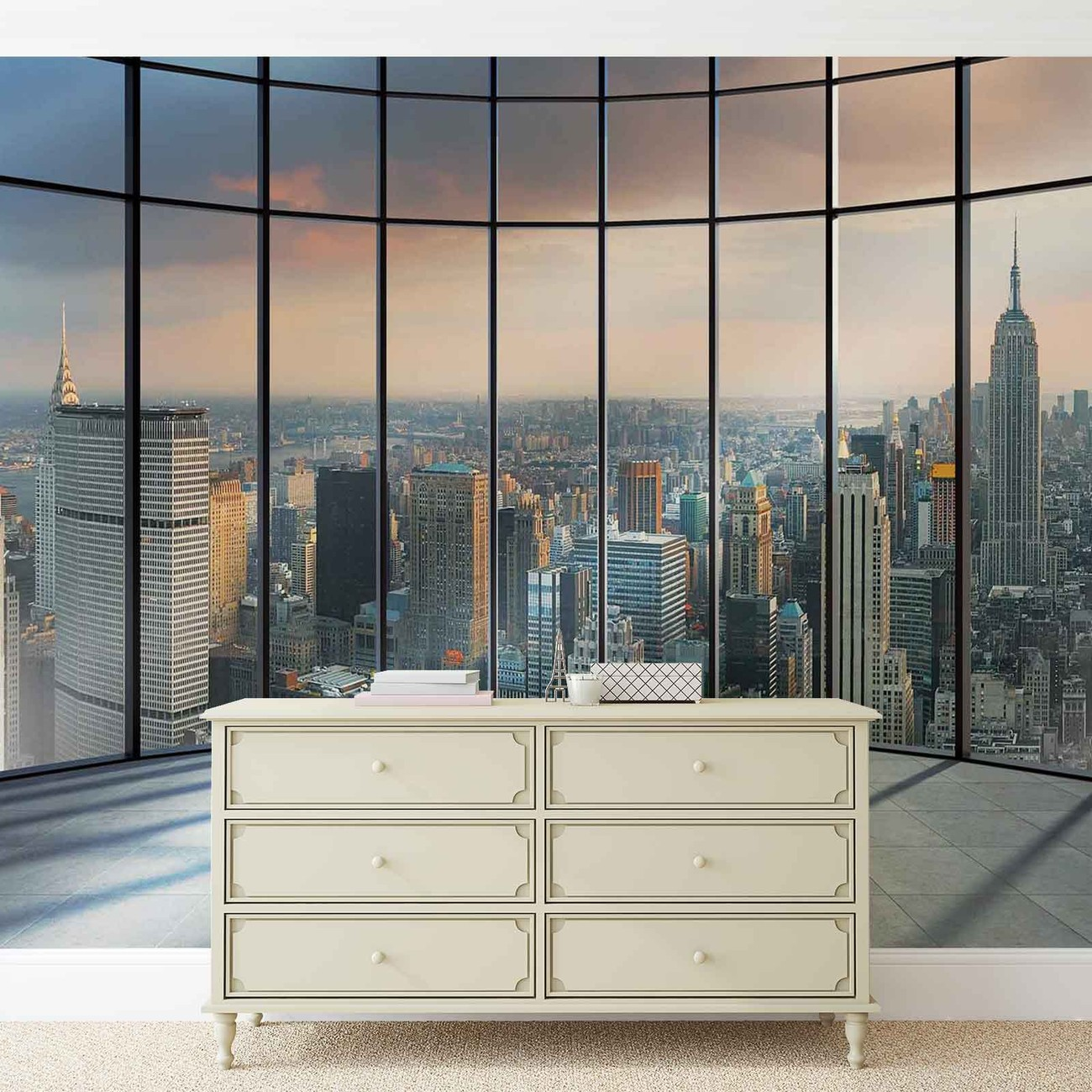 View new york city wall paper mural buy at europosters for Poster mural geant new york