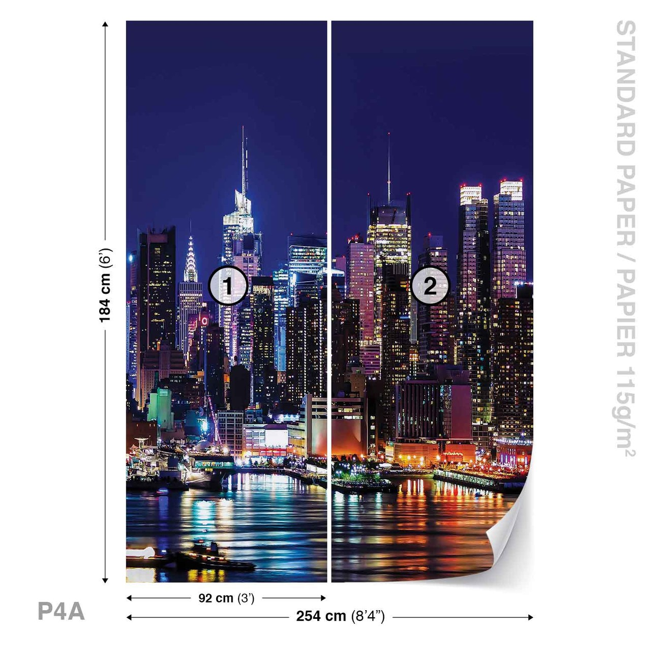New york city wall paper mural buy at europosters for Acheter poster mural new york