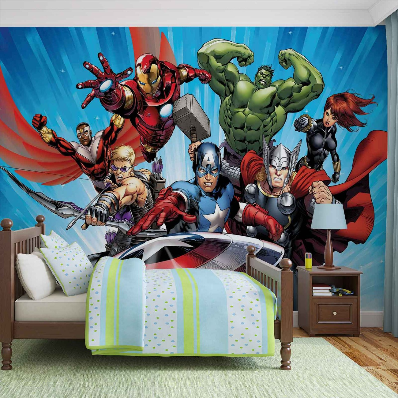 Marvel avengers wall paper mural buy at europosters for Chambre 13 film