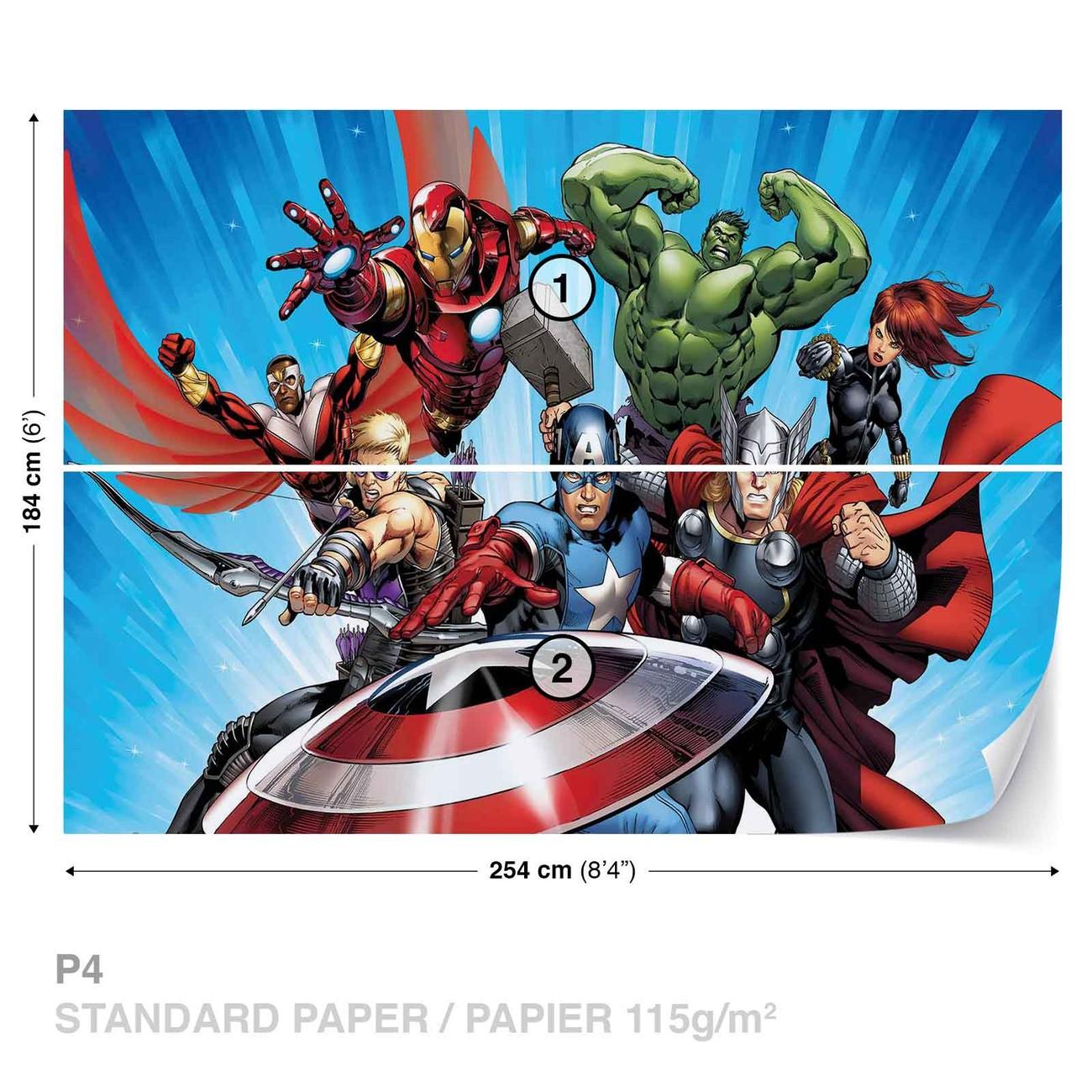 Marvel avengers wall paper mural buy at for Avengers mural poster