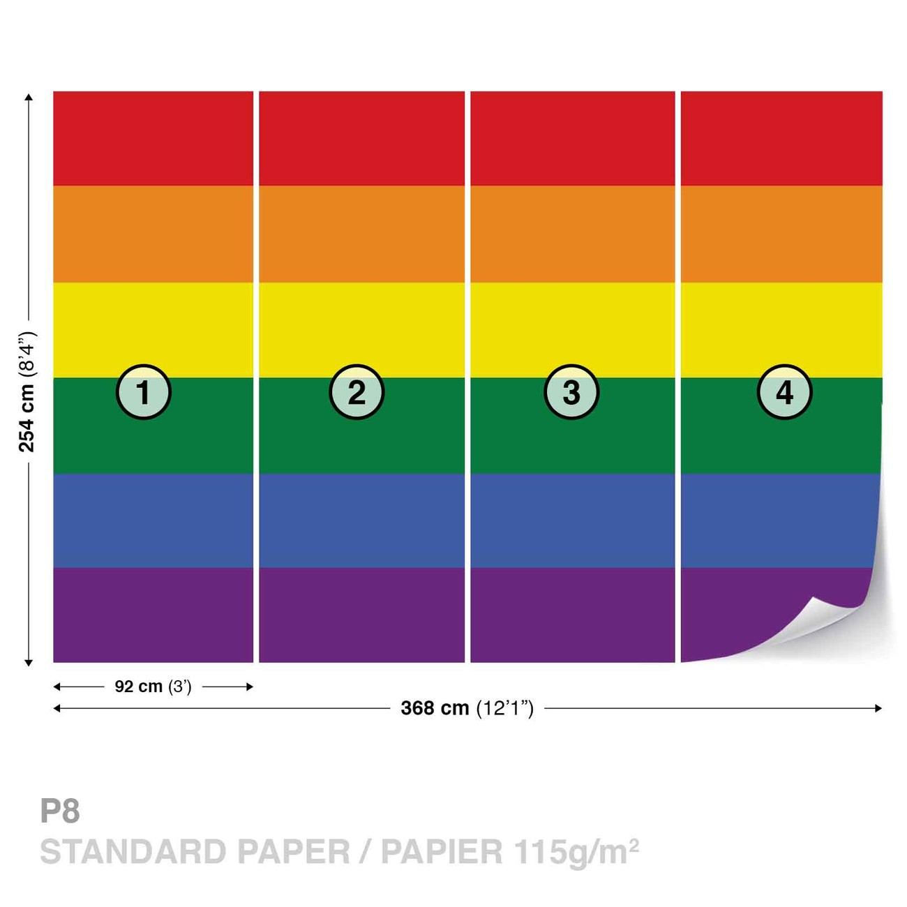 Rainbow Wall Stickers Uk Flag Rainbow Gay Pride Wall Paper Mural Buy At Europosters
