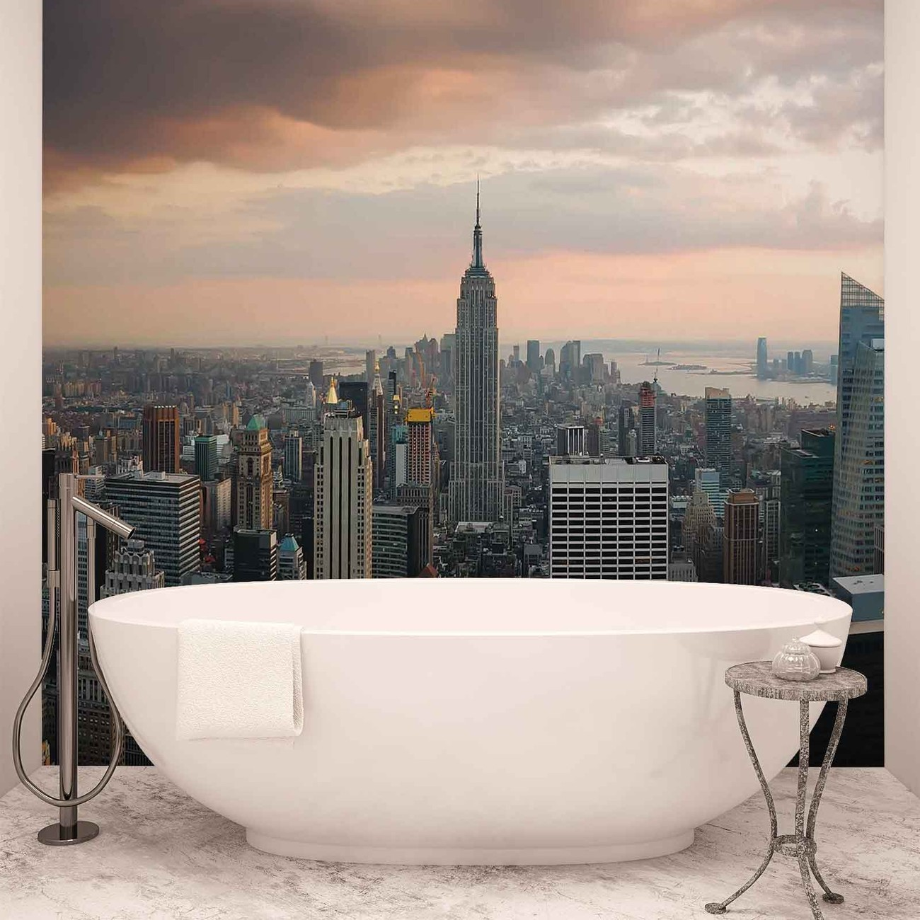 New york city empire state building wall paper mural buy for Empire state building wall mural