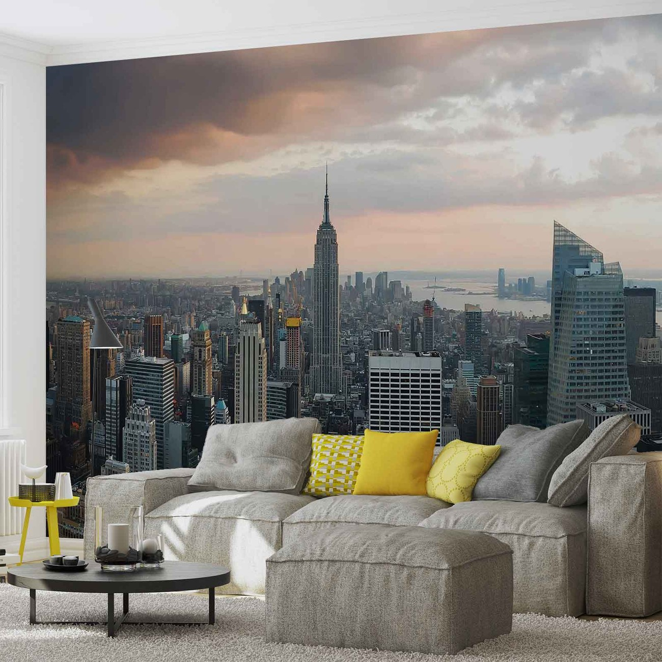 New york city empire state building wall paper mural buy for Acheter poster mural new york