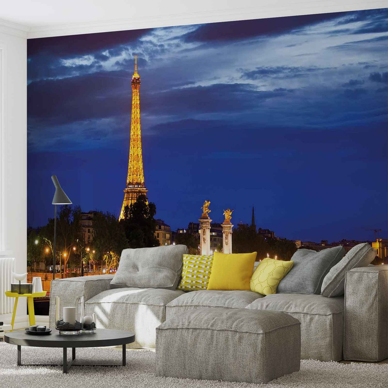 The eiffel tower wall paper mural buy at for Eiffel tower wall mural ikea