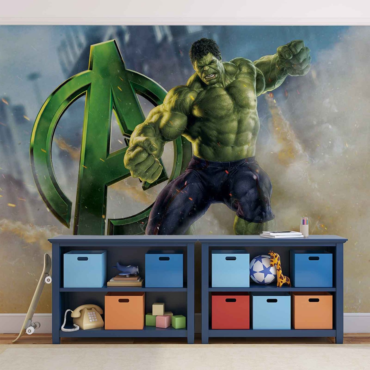 Marvel avengers wall paper mural buy at europosters for Avengers wall mural uk