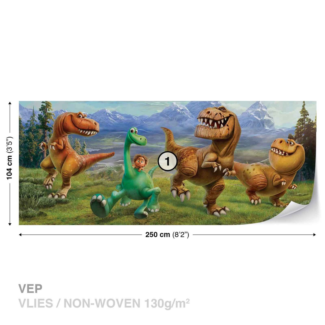 Disney good dinosaur wall paper mural buy at europosters for Dinosaur wall mural uk