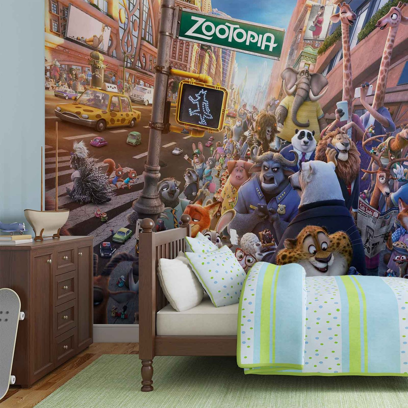 Walt disney zootopia wall paper mural buy at europosters for Disney wall mural uk