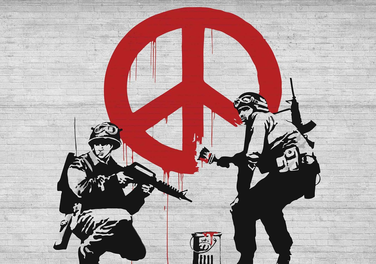 Wall Mural Stickers Banksy Graffiti Wall Paper Mural Buy At Europosters