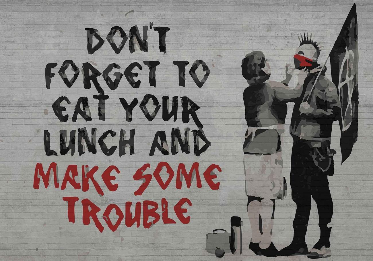Banksy graffiti wall paper mural buy at europosters for Banksy mural wallpaper