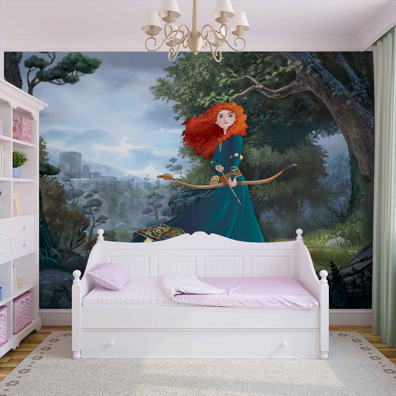 Disney princesses merida brave wall paper mural buy at for Disney princess wallpaper mural uk