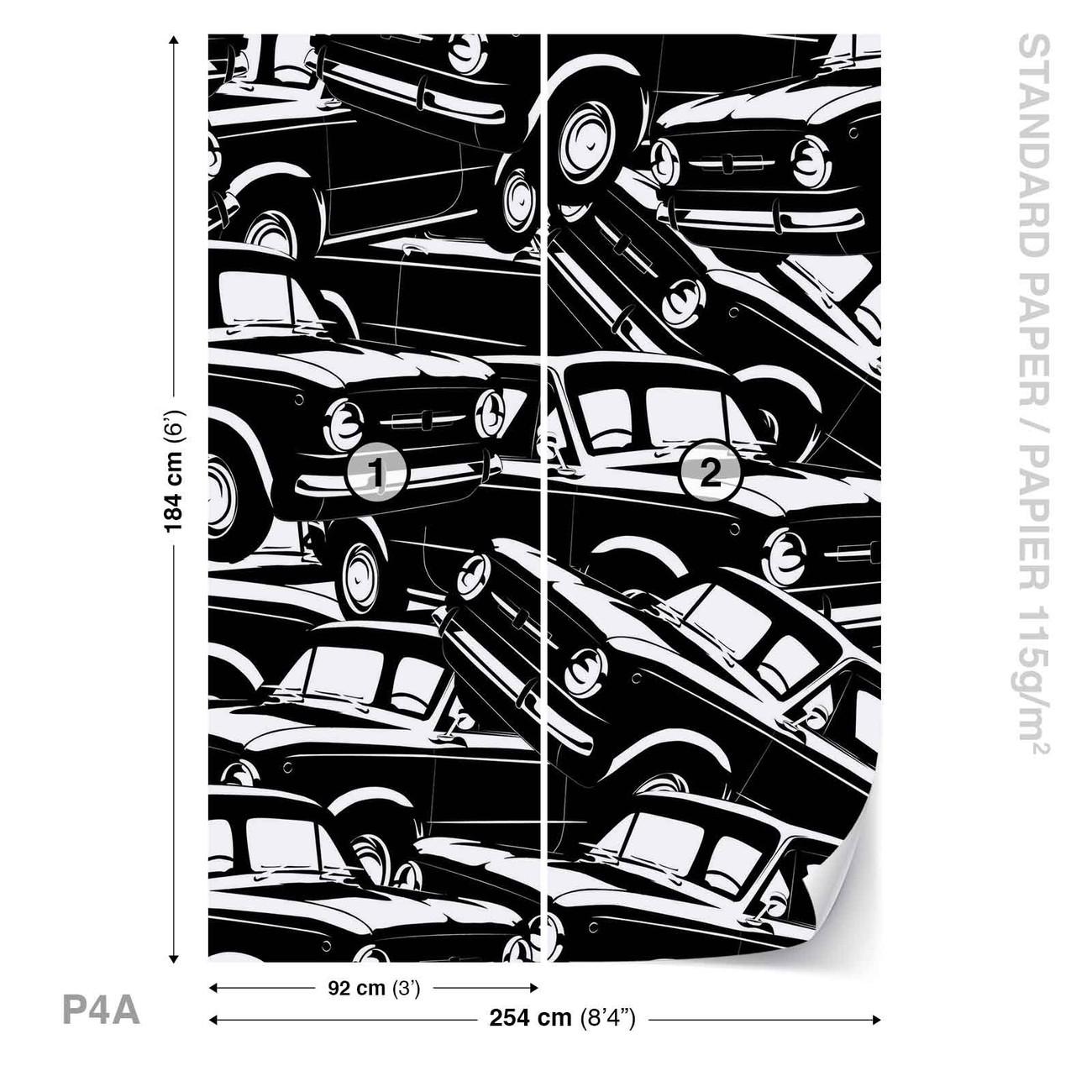 voitures vintage poster mural papier peint acheter le sur. Black Bedroom Furniture Sets. Home Design Ideas