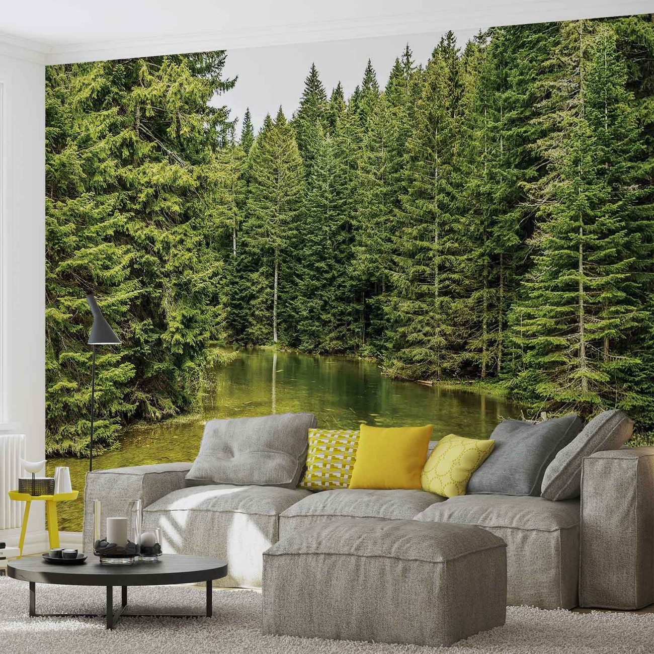 river forest nature wall paper mural buy at europosters. Black Bedroom Furniture Sets. Home Design Ideas