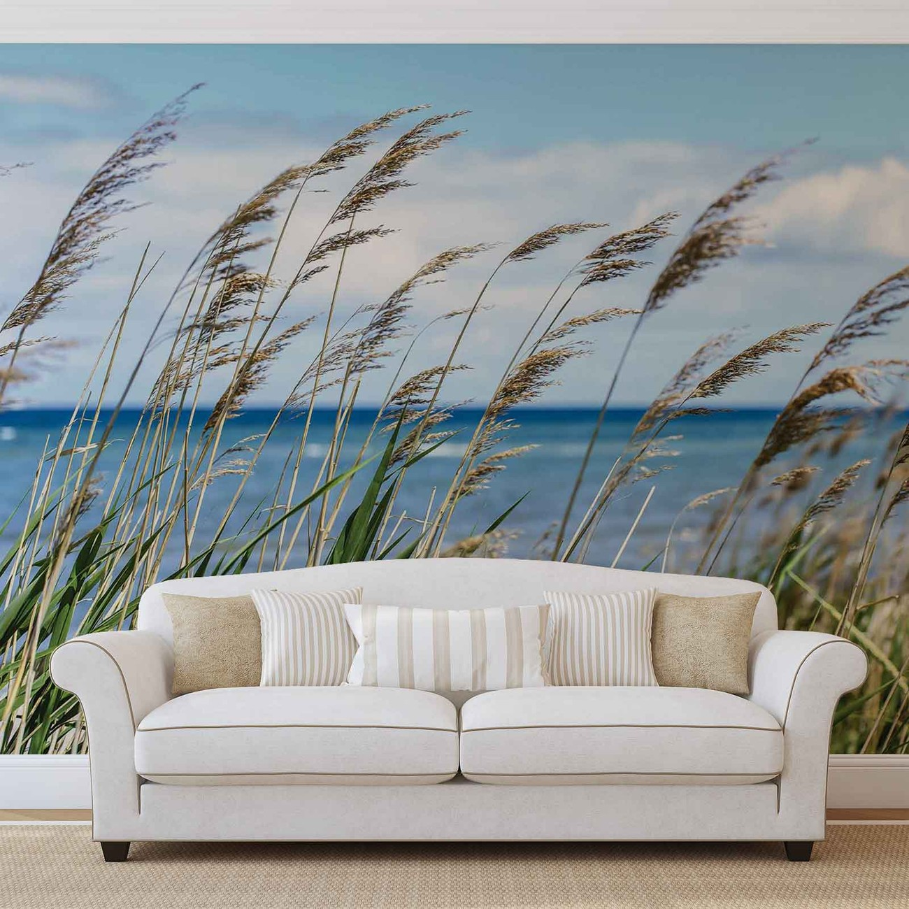 Beach sea sand nature wall paper mural buy at europosters for Decor mural grand format