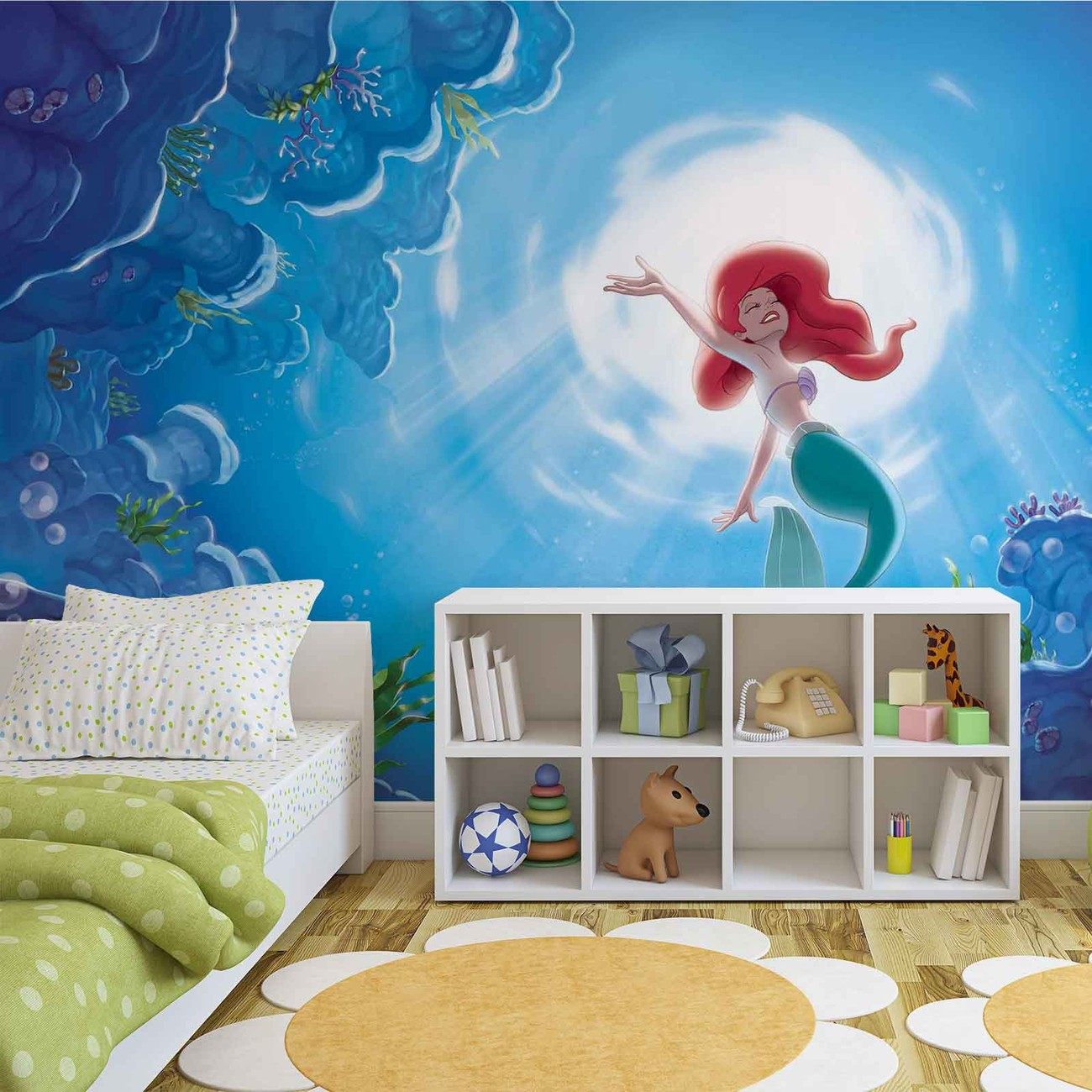 Disney little mermaid ariel wall paper mural buy at europosters disney little mermaid ariel wallpaper mural amipublicfo Images