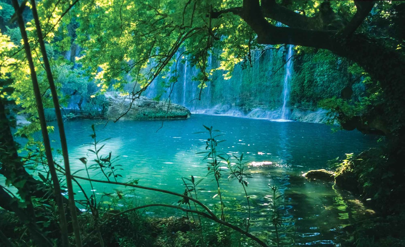 Wall Mural Prints Tropical Waterfall Lagoon Forest Wall Paper Mural Buy At
