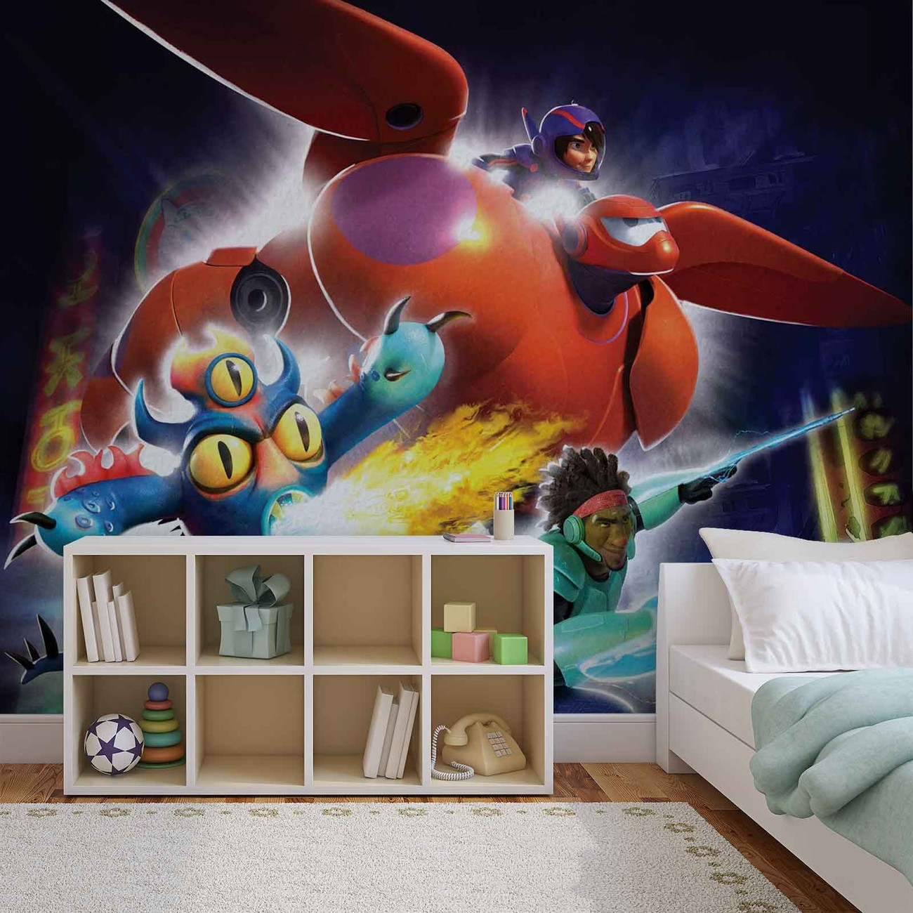 Disney big hero 6 wall paper mural buy at europosters for Disney wall mural
