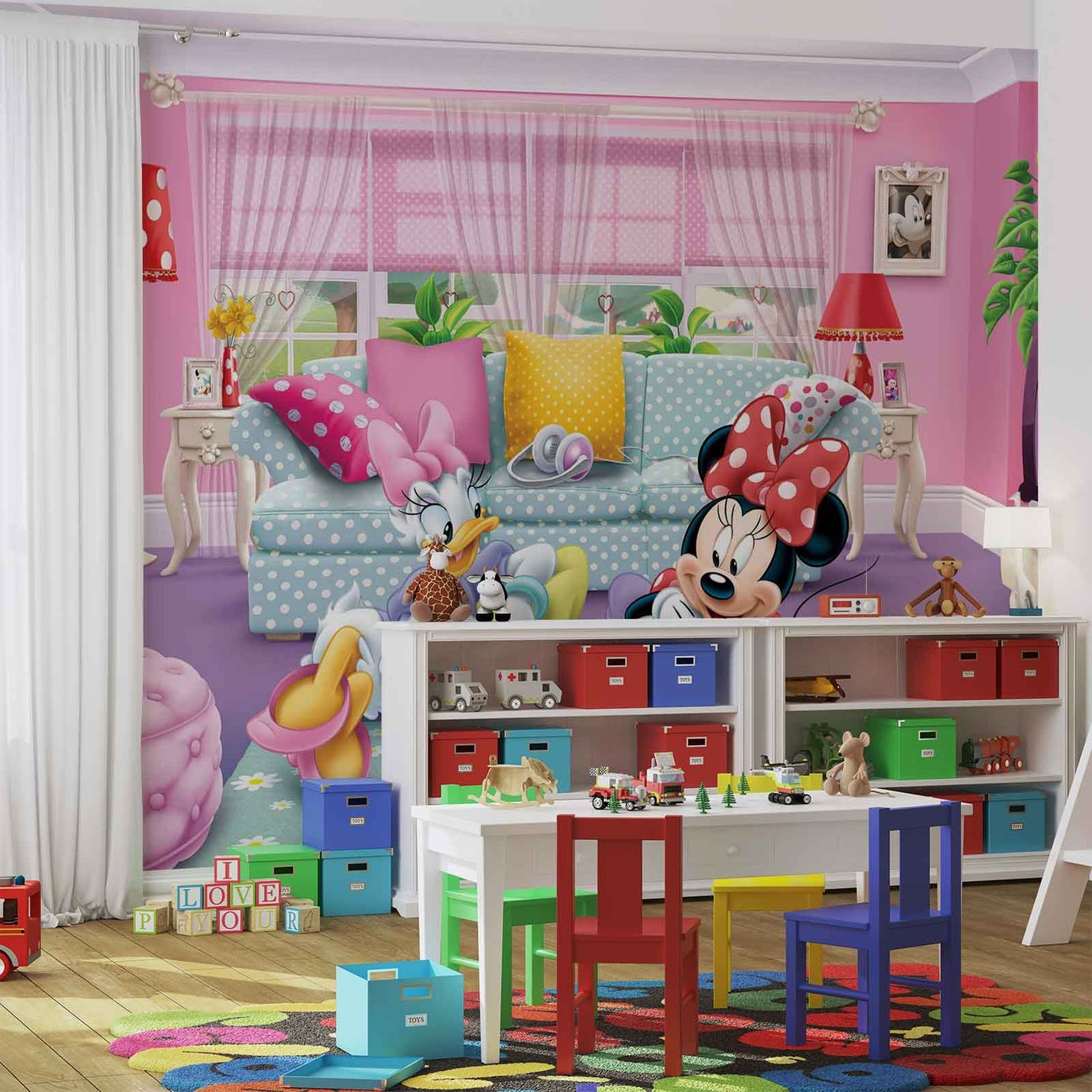 disney minnie mouse wall mural for your home buy at disney minnie mouse wall mural photo wallpaper 1674dk ebay