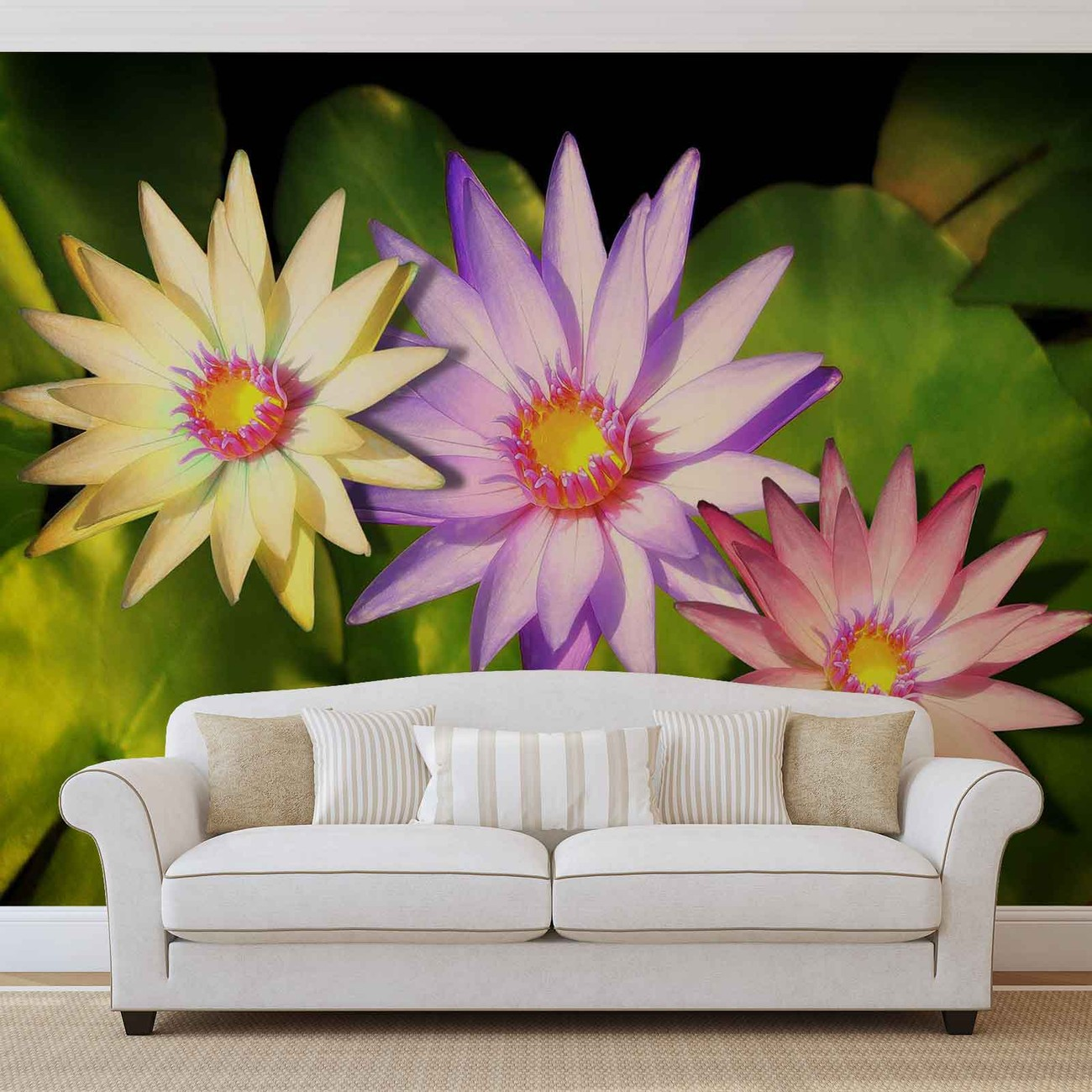 Flowers natur wall paper mural buy at europosters for Mural of flowers